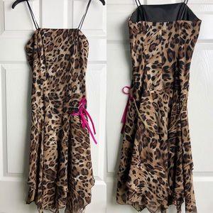 VINTAGE ABS Allen Schwartz Leopard Dress